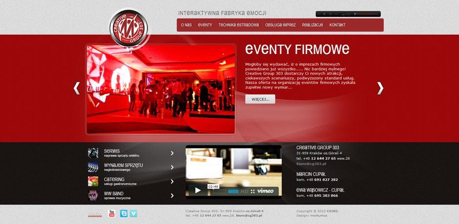 Interaktywna agencja eventowa CG303 Kraków